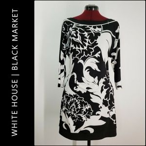 White House Black Market Boat Neck Dress Medium